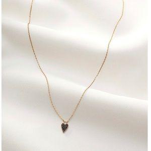 Stella & Dot Delicate 2:1 Versatile Heart Necklace